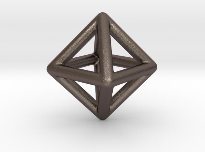 Minimal Octahedron Frame Pendant 3d printed