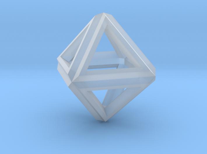 Octahedron Frame Pendant V1 Small 3d printed