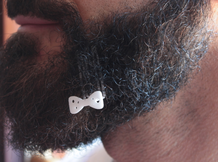 Papillon for beard - lateral wearing 3d printed