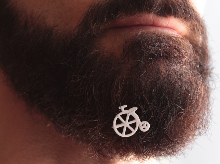 Old bike for beard - front wearing 3d printed