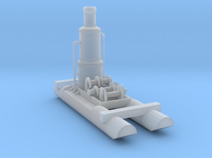 Steam Donkey N Scale 3d printed