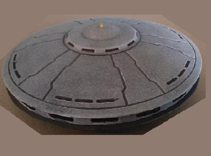 Rachel Nevada Saucer model (5 in. Dia.) 3d printed Top view of model
