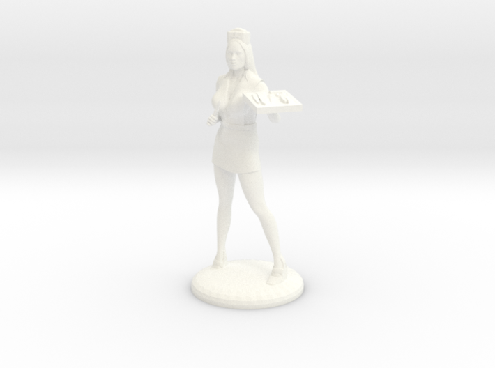 Candy Striper with Scalpel and Tray 28mm 3d printed