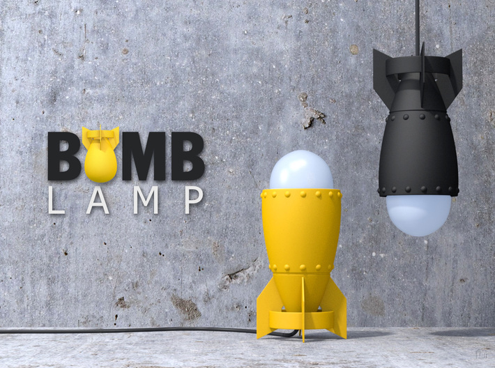 Bomb Lamp 3d printed Digital image, not photo! Socket, bulb lamp, and wire, not included!