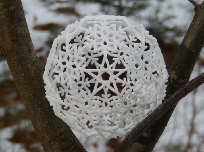 Snowflakes with Stars 3 3d printed