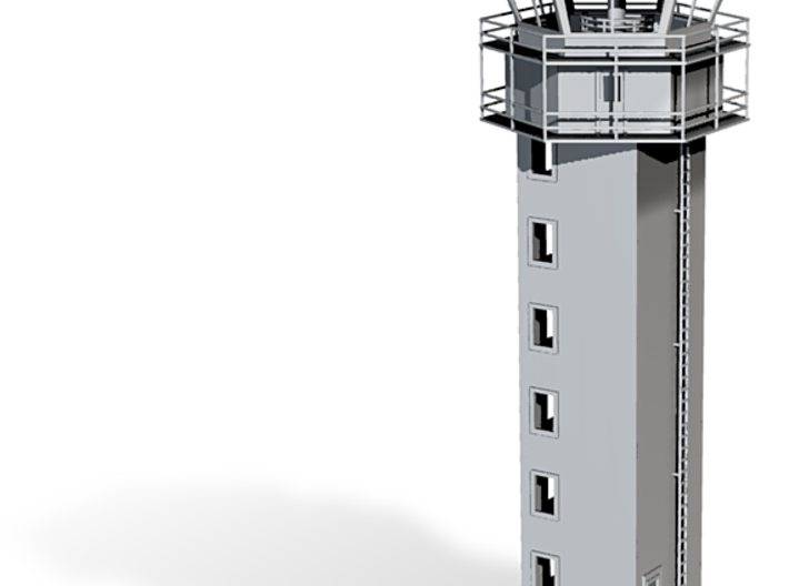 Air Field Control Tower Z Scale 3d printed