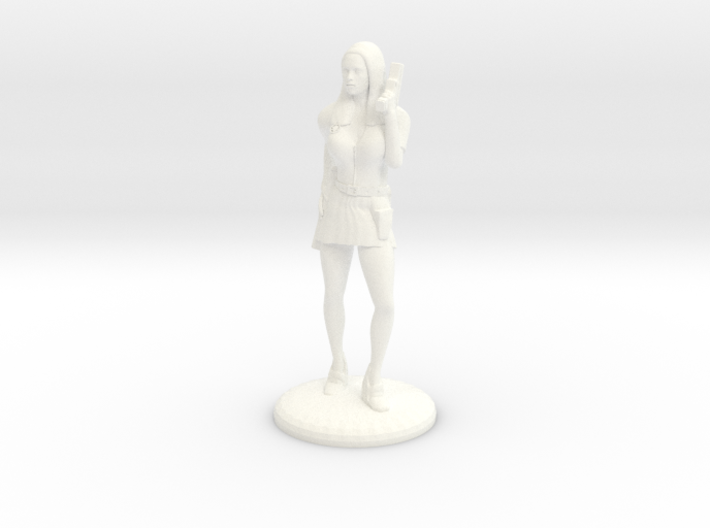 Lady Cop - 25 mm version 3d printed