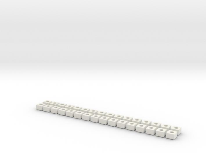 32x Betonfundamente (Oberleitung N 1:160) 3d printed