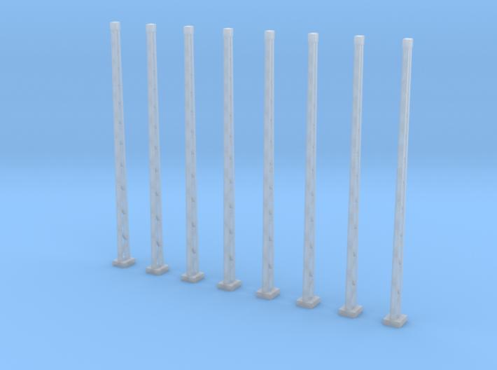 8x genieteter Flachmast (Epoche I - N 1:160) 3d printed
