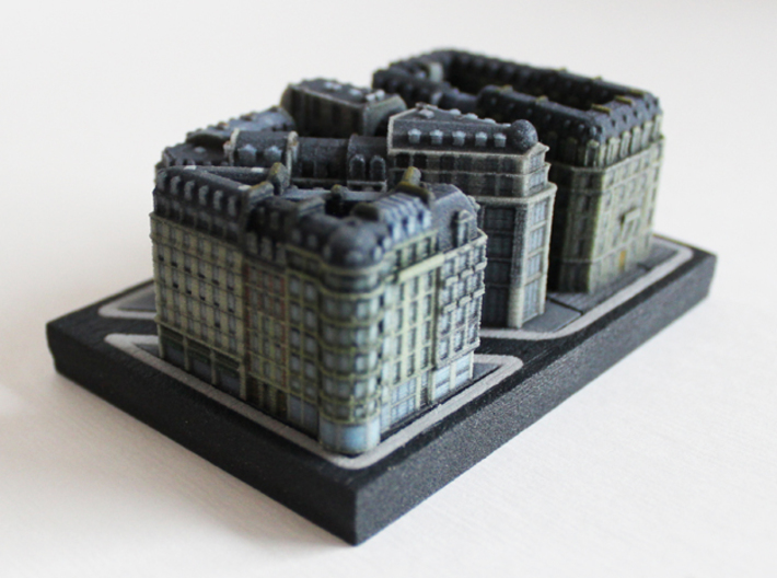 Paris Shopping Block A (3x4) 3d printed
