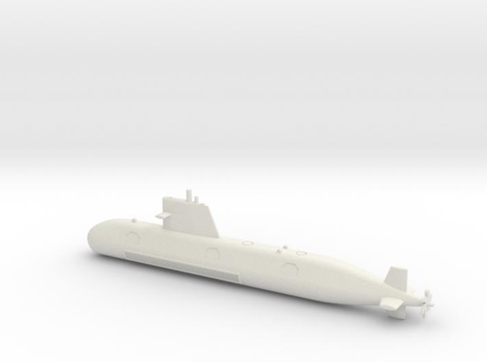1/600 Scorpene class submarine 3d printed