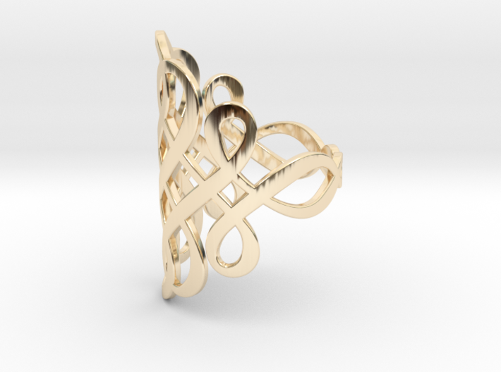 Celtic Knot Ring Size 9 3d printed