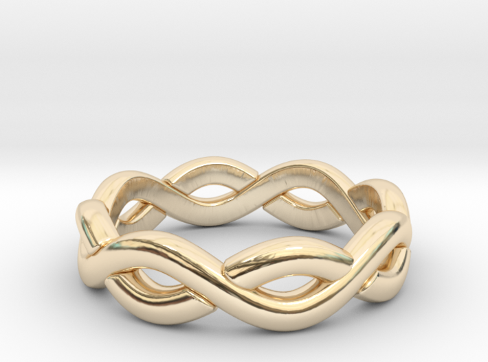 Zig Zag Double Ring. US Size 6 3d printed
