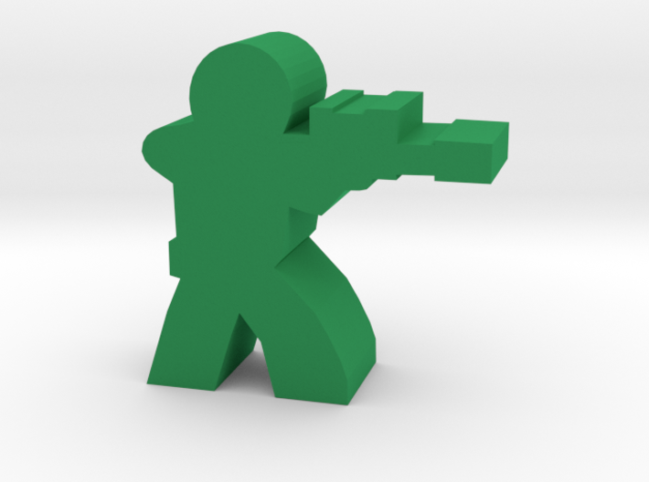 Soldier Meeple, with Sniper Rifle 3d printed