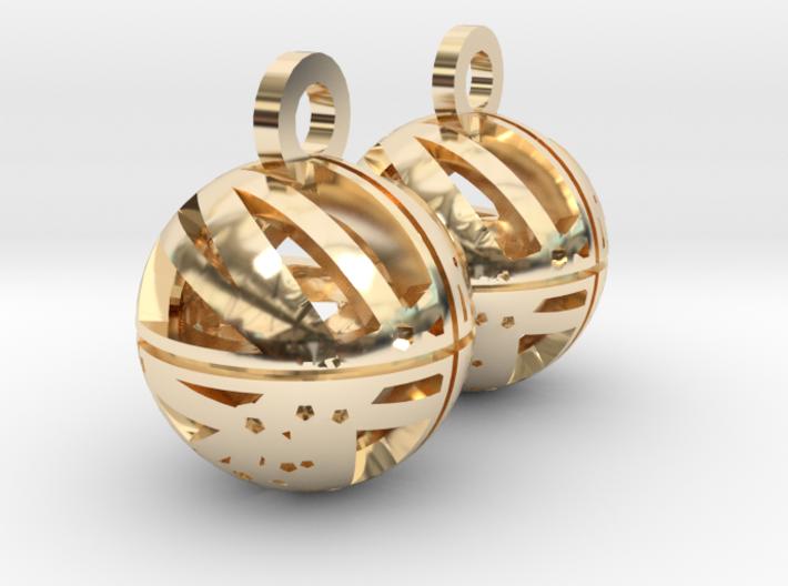 Craters of Rhea Earrings 3d printed