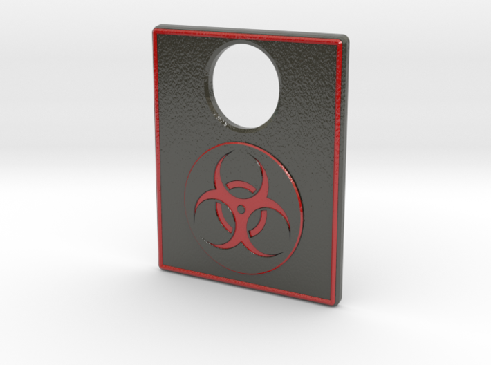 Pinball Plunger Plate - TWD (Blood Red) 3d printed