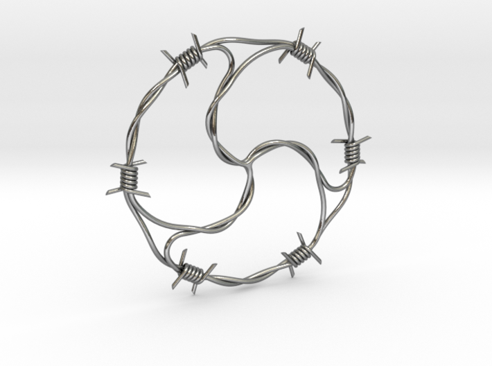 Barbed Wire BDSM pendant 3d printed