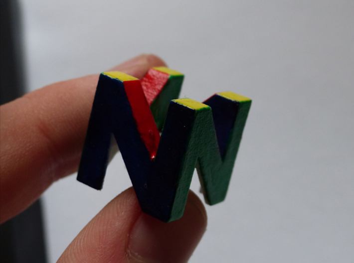 Cherry MX - Keycap - N64 Logo 3d printed after shitty paint job