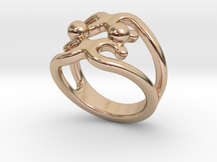 Two Bubbles Ring 27 - Italian Size 27 3d printed