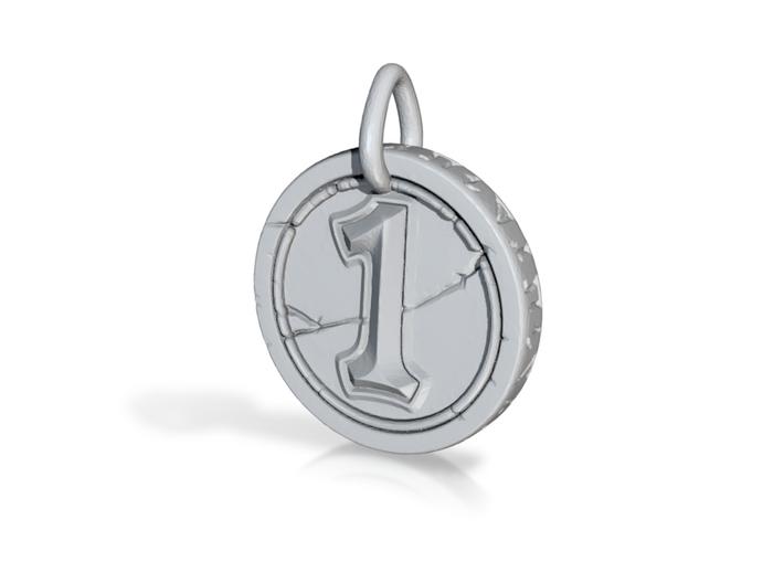 Hearth Stone Coin Pendant 3d printed