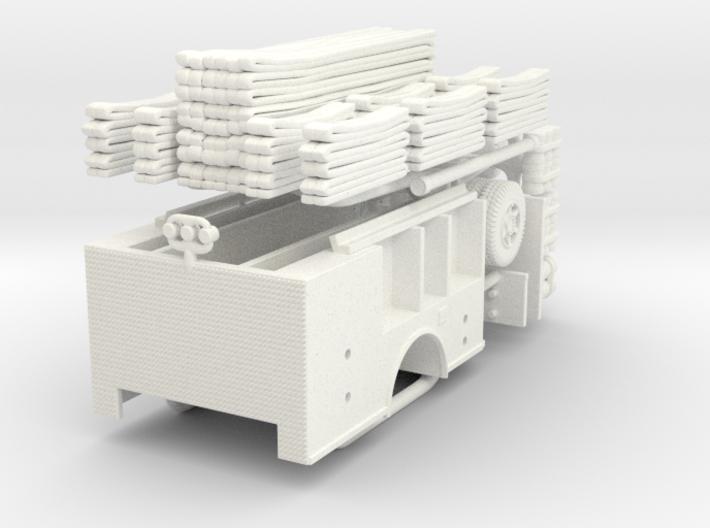 Mack MR Satellite Hose Wagon Body 1/87 3d printed