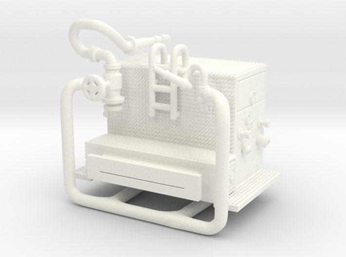 1/87 FDNY(ish) Satellite-Hose Wagon Pump 3d printed