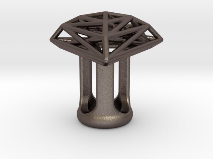 Pyramid Lattice 00 Gauge Earring 3d printed