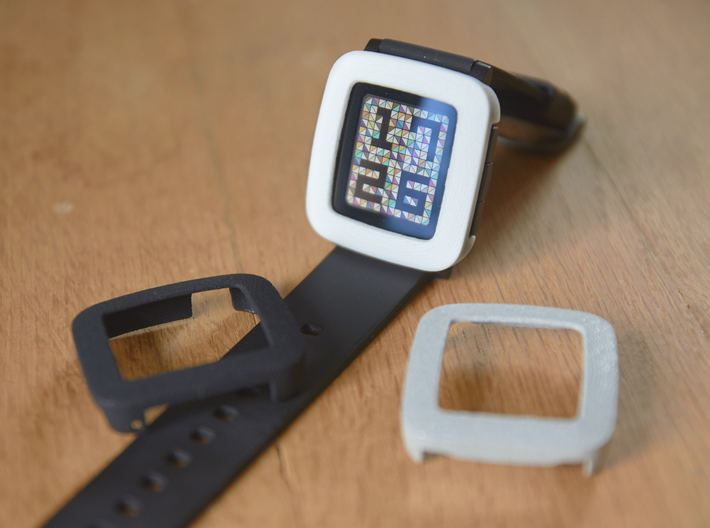Pebble Time Bumper cover 3d printed