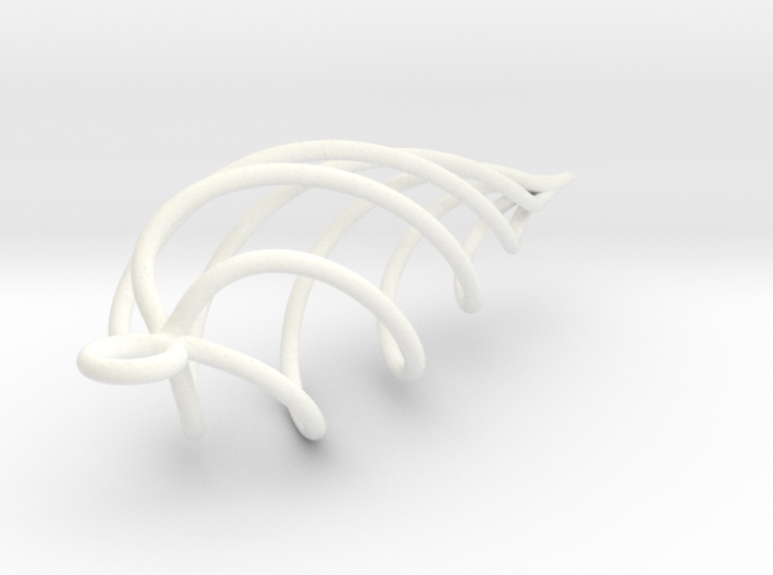 Wireframe Icicle Christmas Decoration 3d printed