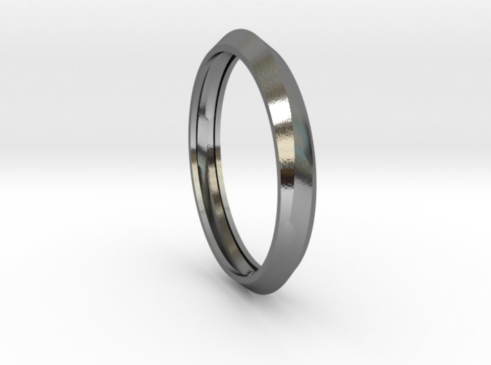 Infinity Bangle -Sterling Silver 3d printed
