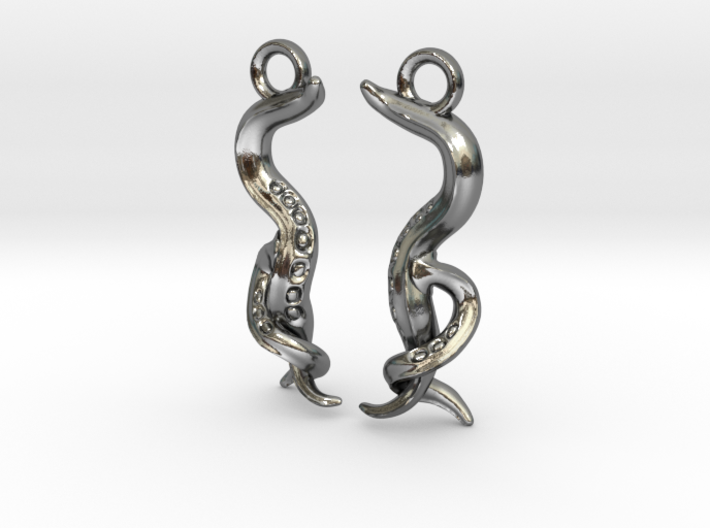 Caenorhabditis Nematode Worm Earrings 3d printed