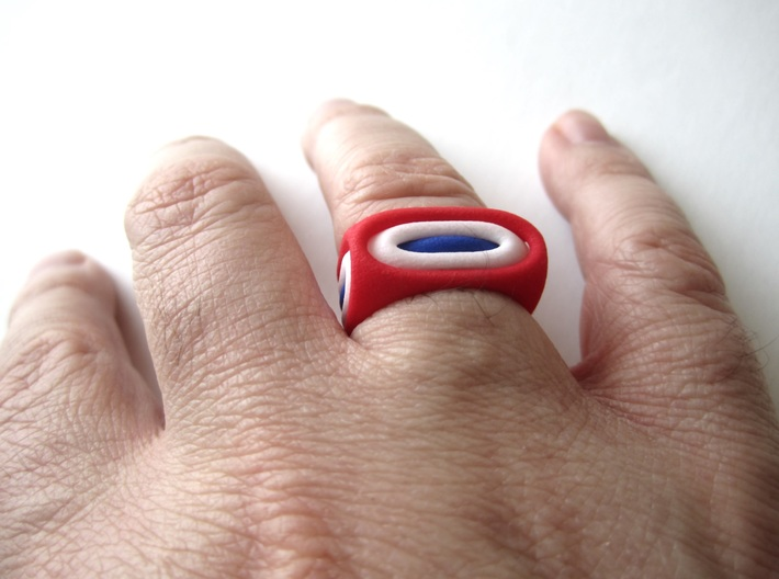 Nested Rings: Middle Ring (Size 10) 3d printed Within the set of 3 nested rings