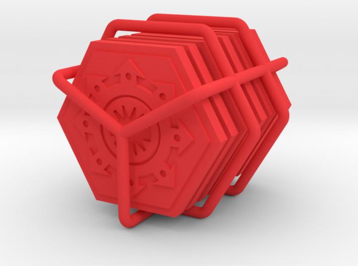 Order tokens - Chaos faction (8 pcs) 3d printed