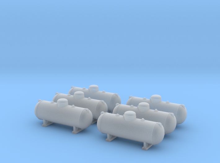 Propane tank 500 gallon. TT Scale (1:120) 3d printed