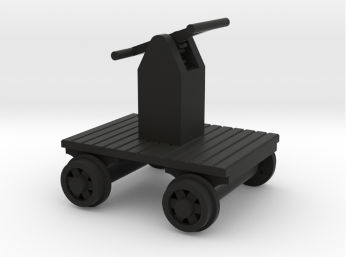 Hand Car+Shack+Opening Doors - N 160:1 Scale 3d printed