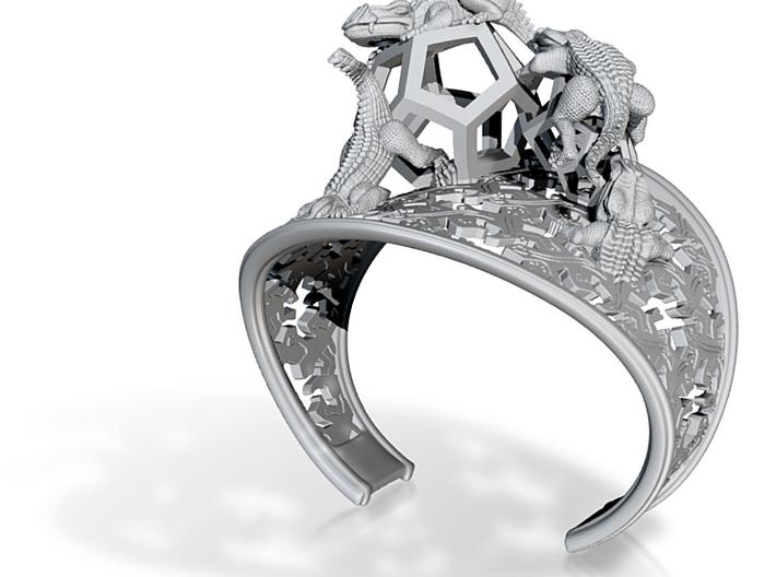 Reptiles Bracelet W-Sculpture v24 3d printed