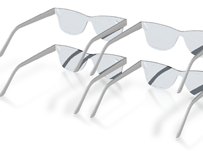 Five Inch Scale Rayban Sonic Shades 3d printed