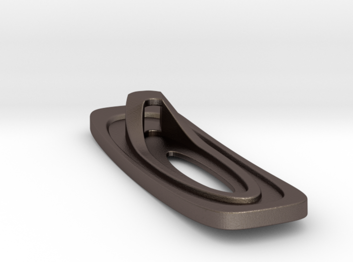 Superellipse Bottle Opener 3d printed Bottom Oblique View(Stainless Steel)