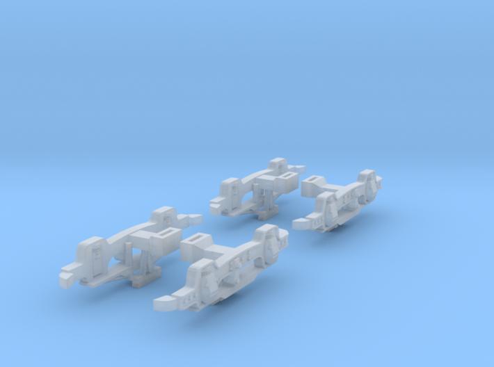 Brush Improved Trucks O Scale 1:43 3d printed