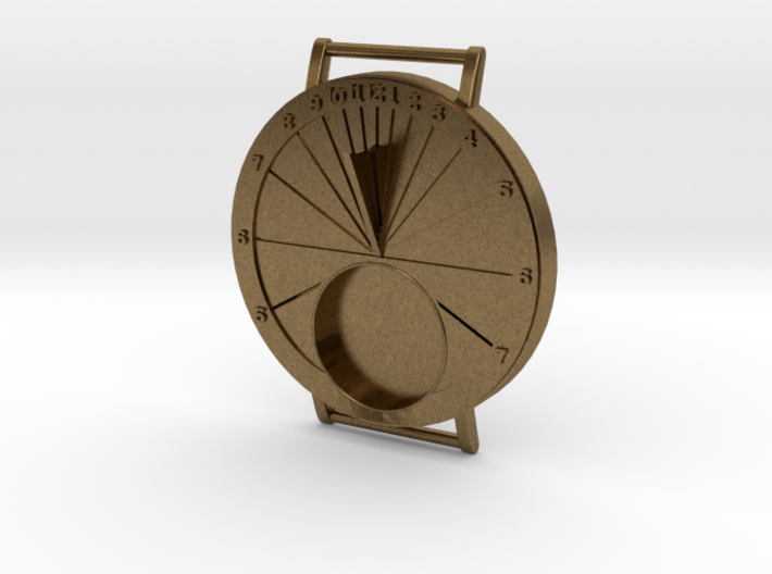 27.75N Sundial Wristwatch For Working Compass 3d printed