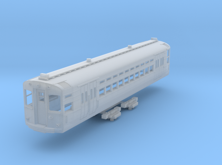 N Scale CTA 1-50 Series Car (Trolley Pole Version) 3d printed