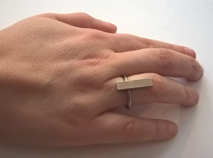 Long ring - size 52 3d printed