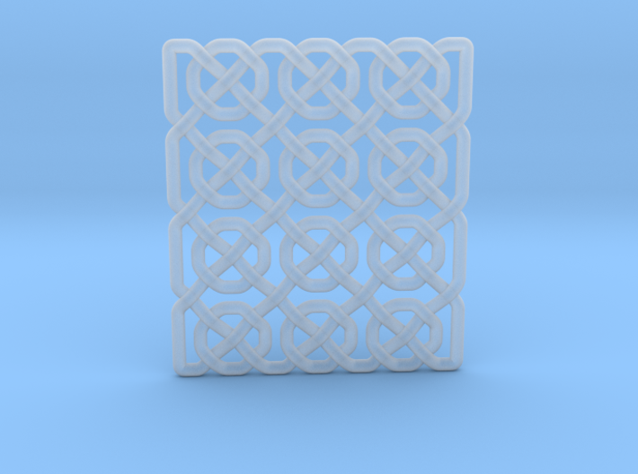 0514 Celtic Knotting - Ibain Grid [p49] 3d printed