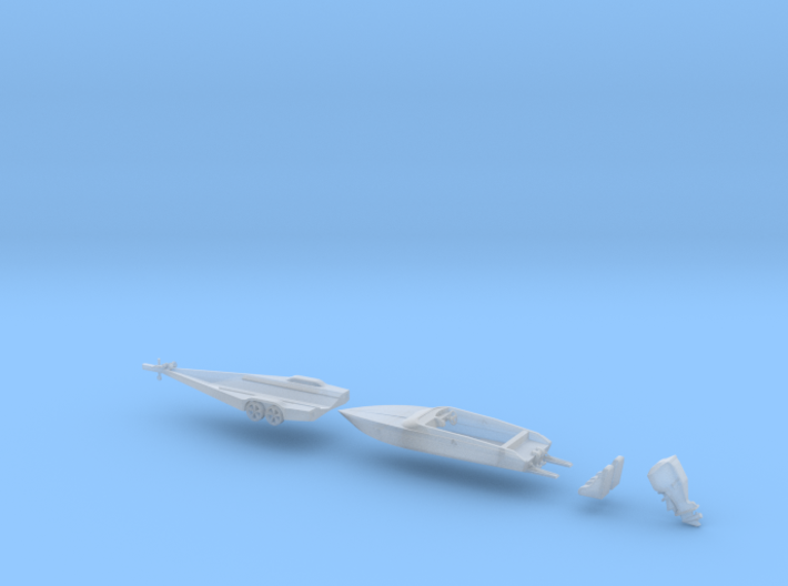 Force Boat And  Trailer F21 N 160 3d printed