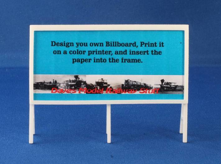 Billboard Frame HO Scale 3d printed