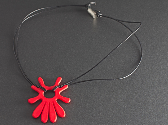 Summer 's here (pendant) 3d printed Summer's here (Coral Red Strong & Flexible)