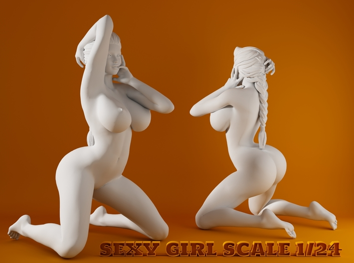 2016006-Ponytail girl 1:24 3d printed