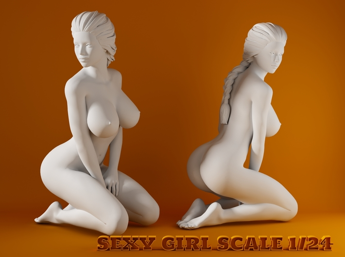 2016009-Ponytail girl 1:24 3d printed