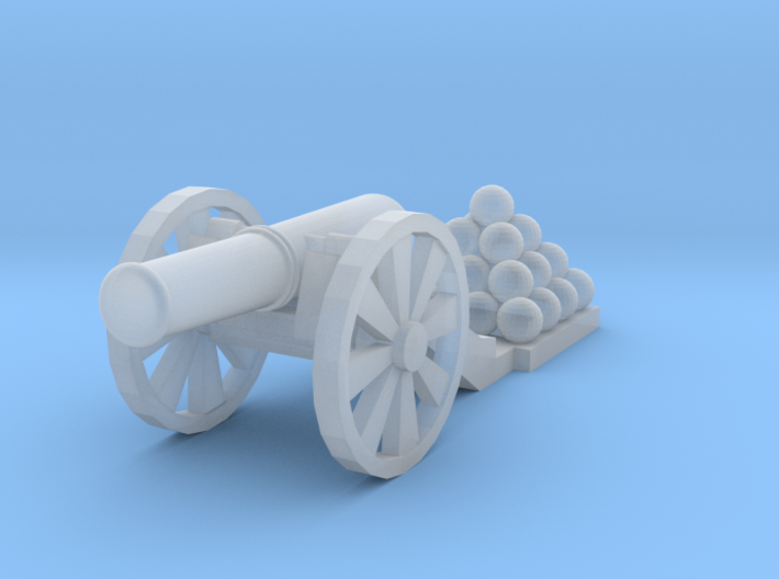 Cannon (Light) - Qty (1) N 160:1 Scale 3d printed