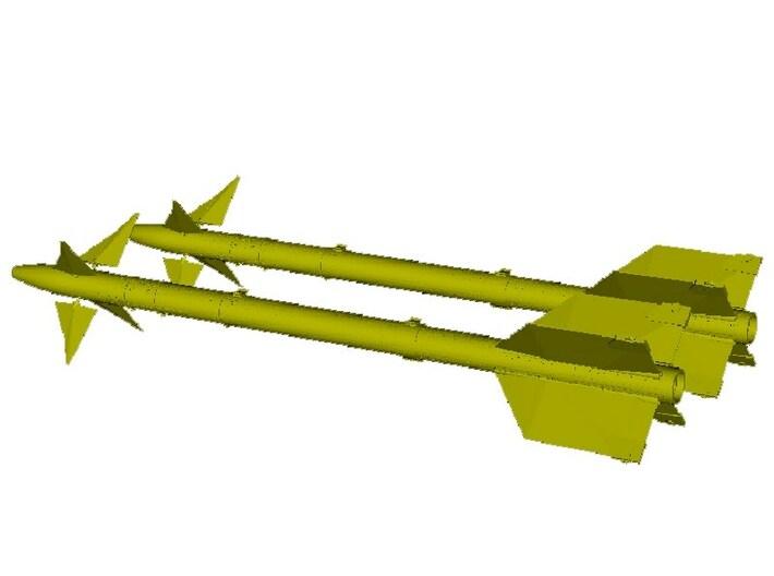 1/18 scale Raytheon AIM-9L Sidewinder missiles x 2 3d printed